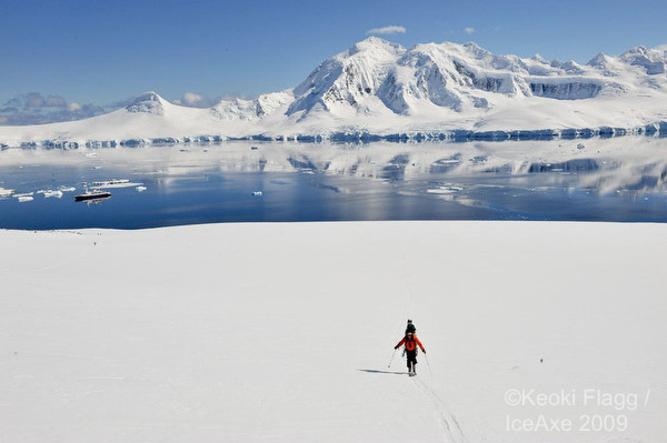 Skiing on the White Continent.  Photo: Ice Axe