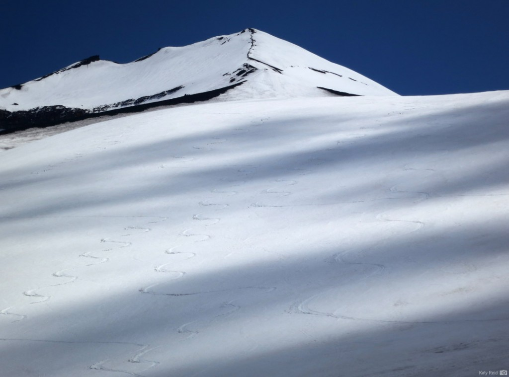 Beautiful tracks on Linquimay. Photo: Ty Reid