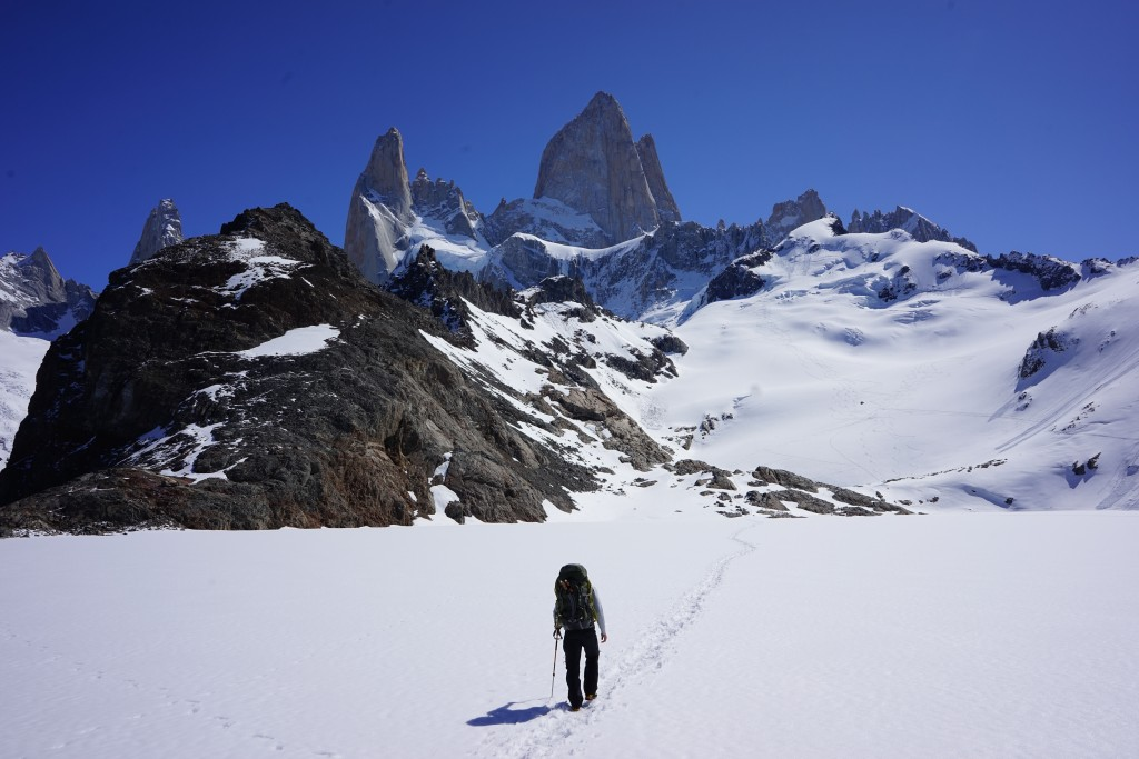 Climbing Patagonia, Photo: Zeb Blais. On our way into the Fitzroy Group.
